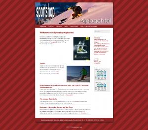 Sportshop Alpbachtal - Relaunch mit Content Management System 2013