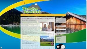 Pension Seeblick am Achensee - 2014 Relaunch mit Content Managementsystem