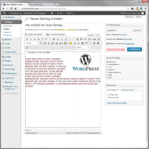 PrimeMarketing nutzt das CMS WordPress