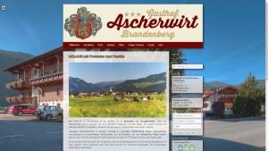 Webdesing für Gasthof Ascherwirt - Brandenberg